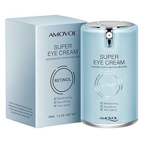 Augencreme-Gel für dunkle Kreise und Schwellungen mit Retinol & Traubenkernextrakt, Beste Anti-Aging-Behandlung unter Augenbehandlung für Frauen & Männer, Erfrischend, Hydratisierend, Beruhigend, 1 OZ