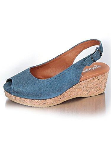 Semler  Elisa 3014, chaussures compensées femme Bleu - Bleu