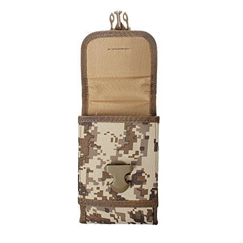 xhorizon(TM)MW8 1000D NylonArmee Camo TouchDienstTactical MOLLE UniversalMultifunktionsgürteltasche Holster für Multi Handy Modell #B7 Camouflage Wüste
