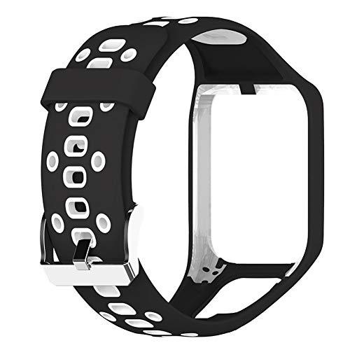 succeedw Silikon Uhrenarmband 24mm für Tomtom 2/3 Runner 3 Golfer 2 Series Uhren, Ersatzarmband Fitness Tracker Wechselarmband Uhrband Schlaufe Silikon Weiche Gummi Watchband