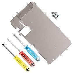 MMOBIEL LCD Metall Rückplatte mit Hitzeschild kompatibel mit iPhone 7 Plus inkl. Vorinstallierter Home Button Verbindung Flex Ersatzteil inkl Schraubenzieher und Schrauben