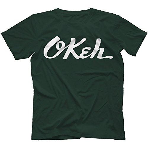 Okeh Records T-Shirt 100% Baumwolle Waldgrün