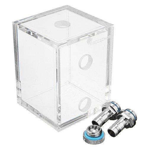 Tutoy Wasser-Behälter G1 / 4 Acryl-250Ml Mit 2 Verbindungsstück Für Pc Cpu-Flüssigkeitskühlsystem