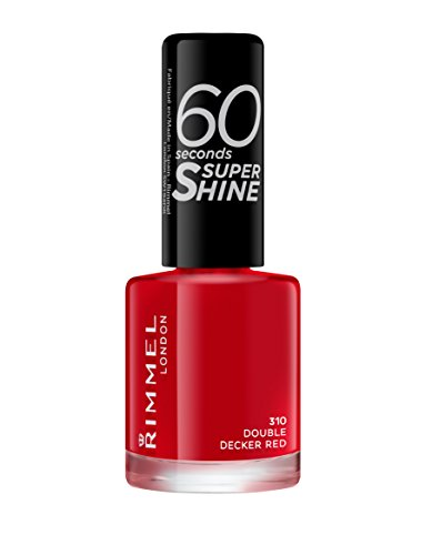 Rimmel 60 Seconds Super Shine Nail Polish, 8 ml, Double Decker Red