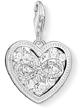 Thomas Sabo Damen-Charm-Anhänger Herz Unendlichkeit Charm Club 925 Sterling Silber Zirkonia weiß 1315-051-14