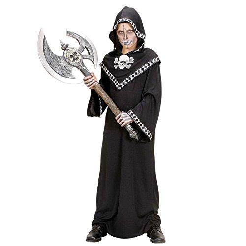 Totenkopf Doppel Axt Henkersaxt silber Doppelaxt Mittelalter Waffe Streitaxt Wikingeraxt Henker Krieger Kostüm Accessoire Larp Rollenspiel - 2