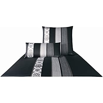 joop bettw sche ornament stripe satin schwarz gr e. Black Bedroom Furniture Sets. Home Design Ideas