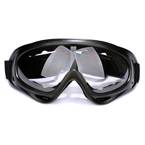 gaeruite Motorradbrillen, UV-Schutz Ski Schutzbrille, Einstellbares Fahrrad Staubdichtes kratzfestes Outdoor Reit Gläser -Wandern Augenschutz (Translucent) -