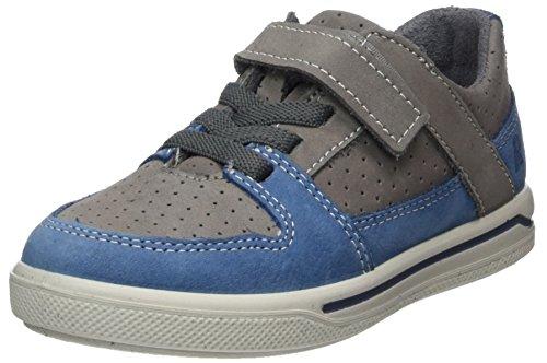 Ricosta Jungen Ted Sneaker, Grau (Graphit/Jeans), 32 EU (Halbschuhe Leder Ted)