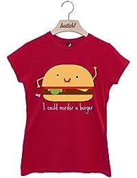 Batch1 I Could Murder A Burger Fun Novelty Halloween Fashion Womens T-Shirt