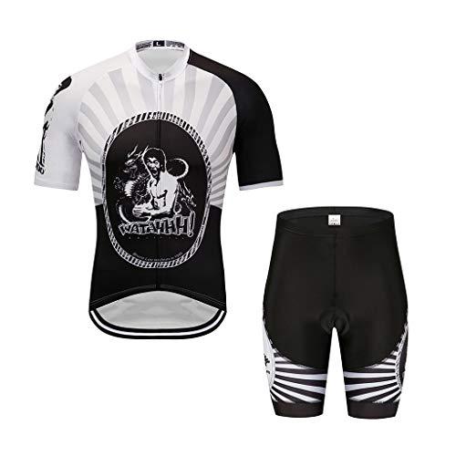 ZHAO YING Herren Radsport Outfit Set Fahrrad Trikot Rennrad Shorts Cyclwear Shirts (Color : A, Size : XXS)