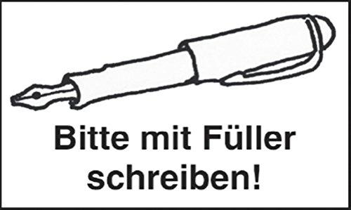 Würfel, Sticker, Stempel - Stempel: Bitte mit Füller schreiben!: Sie sparen sich viel...