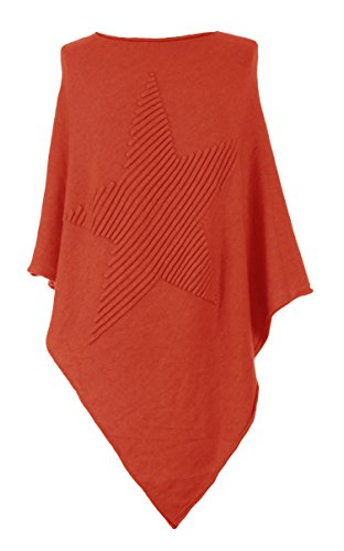 TEXTUREONLINE - Poncho - Cappotto -  donna Bright Orange