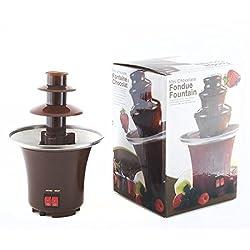 Goods & Gadgets Schokoladenbrunnen Schokofondue Schokoladenfondue-Set Schokoladenfontaine Schokoladenfondue