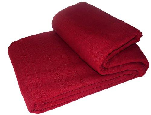 Elite Home Collection Indian Classic - Colcha para cama y sofá (250 x 250cm, incluye 2 fundas para cojines), color rojo