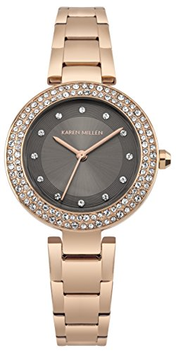Karen Millen Womens Analogue Classic Quartz Watch with Stainless Steel Strap KM164ERGM