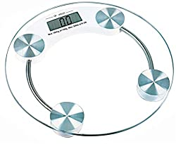 Slings Big LED Display Bathroom Weighing Scale With 68Mm Thick Tempered Glass-1234(White)