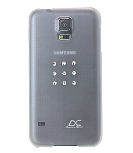 Diamond cover star telefono cover con swarovski element per samsung galaxy s5 trasparente