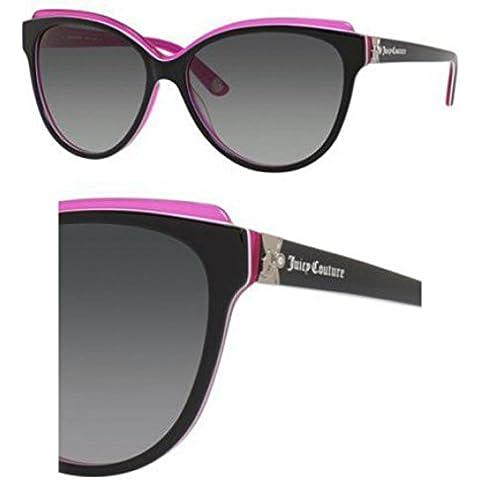 JUICY COUTURE 575/S-Occhiali da sole, colore: nero con motivo floreale rosa 58-15-135 0FL8