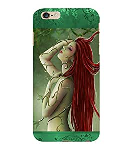 ColourCraft Lovely Girl Design Back Case Cover for APPLE IPHONE 6 PLUS