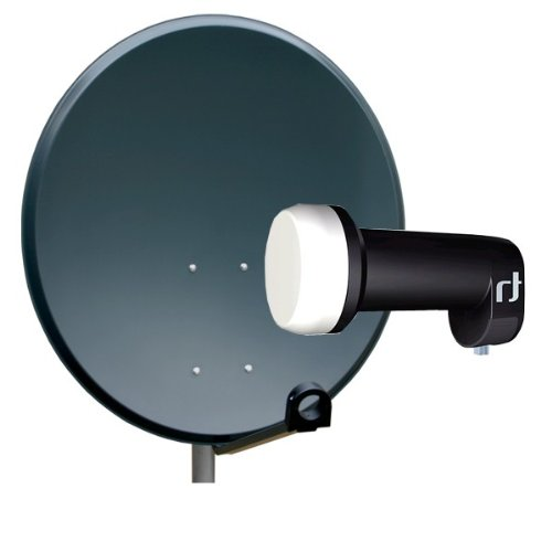 PremiumX Antenne 60cm PXA60 Sat Schüssel aus ALU FullHD HDTV Satelliten Spiegel 60 cm Anthrazit + LNB Single 0.2 dB Inverto Black Ultra High-Gain SAT LNB 72 dB FULLHD 3D HD+ Digital Tauglich