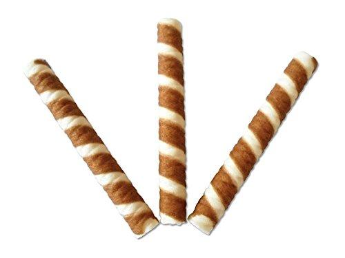 Pz 250 cialda bicolore a forma di cannolo per gelato e dolci cialde wafer ice cream decorazione a sigaretta per frappe' yogurt milkshake per gelati e dolci