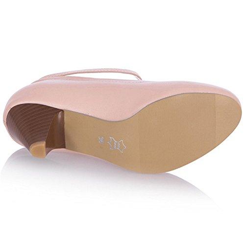 Alla Che Comode Cinturino Pink Scarpe Scarpe Caviglia Significa Taoffen Tacchi Le Loop Donne Blocco x5zBqZY