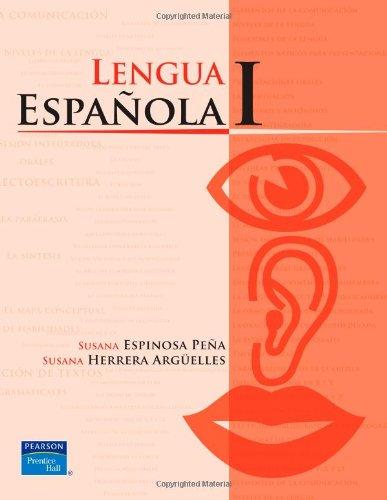 Lengua Espanola I/Spanish Language I (High School)