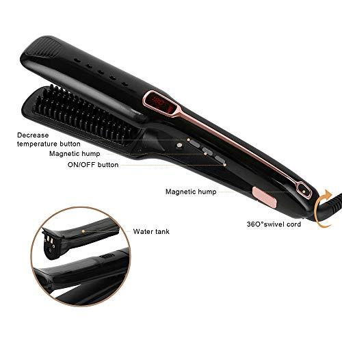 LHXHL 3-in-1 Multifunktions-Dampf-Haarglätter, Infrarot-Lonenpflegemittel, 360-Grad-Netzteil, Drehbarer Draht, Steuerbarer Schalter
