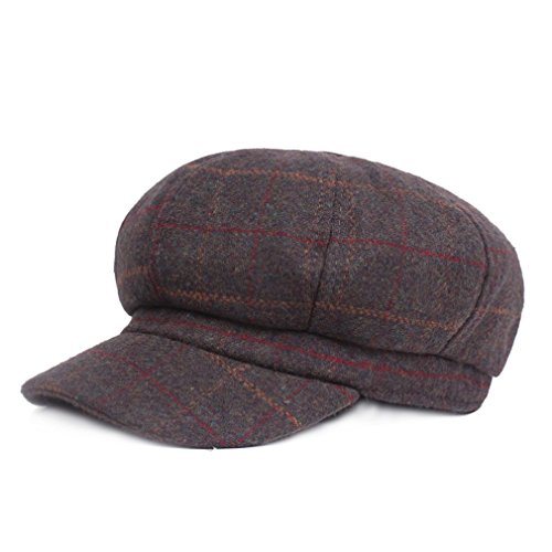 ge Berets Plaid Hat Octagonal Like Cashmere Hat Man Newsboy Cap (Army Green) ()