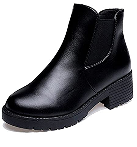 Low Boots Zip Arriere - Minetom Chaussure Mode Bottine Chelsea Low Boots