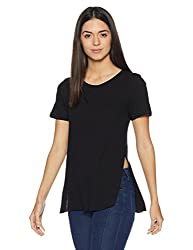 Forever 21 Womens Plain Regular Fit Cotton Shirt (00103816053_0010381605_BLACK_3_)