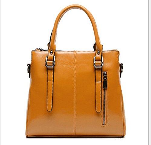 fanselatm-womens-premium-fashion-faux-leather-tote-handbag-cross-body-bag-dark-yellow