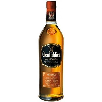 Glenfiddich 14 Year Old Rich Oak Single Malt Scotch Whisky 70cl Bottle x 2 Pack
