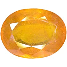 Gemstone Luxurious Gemstone Oval Cut Yellow Sapphire (Pukhraj) Stone 7.04 Ratti