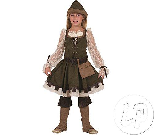 Robin Hood Girl Kostüm Mädchen Gr. 140 (Robin Hood Kid Kostüm)