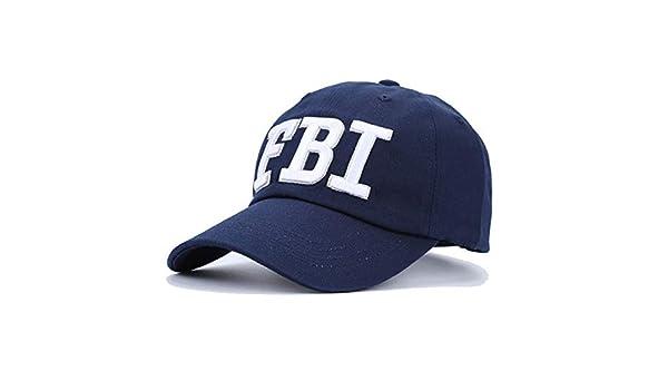 Cappello da Baseball FBI americano USA vari colori ricamo bianco berretto Fostex