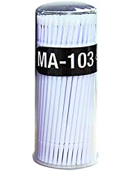 Bluelans® 100pcs Small Disposable Eyelash Extension Micro Brush Applicators Mascara (White)