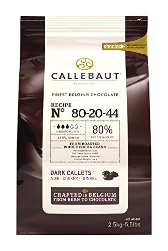 Callebaut Leistungsstarke 80 Prozent dunkle Schokolade Callets 2,5 kg