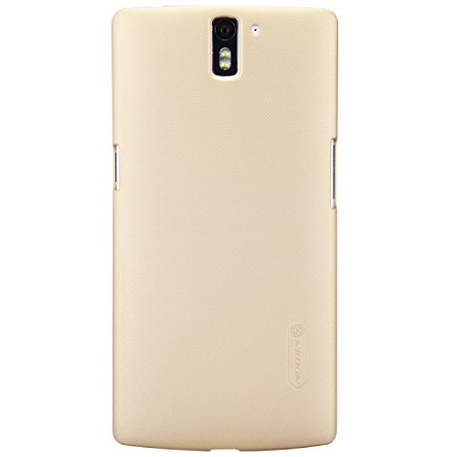 Nillkin Oneplus One A0001 Imported Nillkin Frosted Shield Back Cover With Screen Guard (Gold)  available at amazon for Rs.399