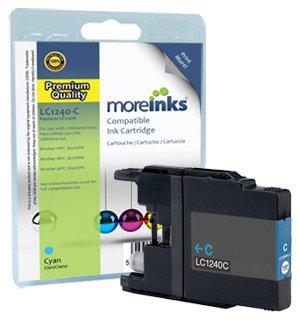 Moreinks® Cartouche d'encre Compatible Cyan remplace Brother LC1240C / LC1220C pour MFC J6710 J6510DW J6710DW J6910DW J5910DW J430W J625DW J825DW DCP J525W J725DW J925DW