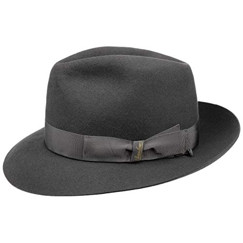 Borsalino 50 Grammi Cappello da Uomo Cappelli di Feltro Pelo 56 cm - Grigio  Scuro 24609d7e2ec6