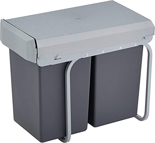 Wesco 755611-11 Einbau-Abfallsammler Double-Boy 2x 15 Liter, anthrazit
