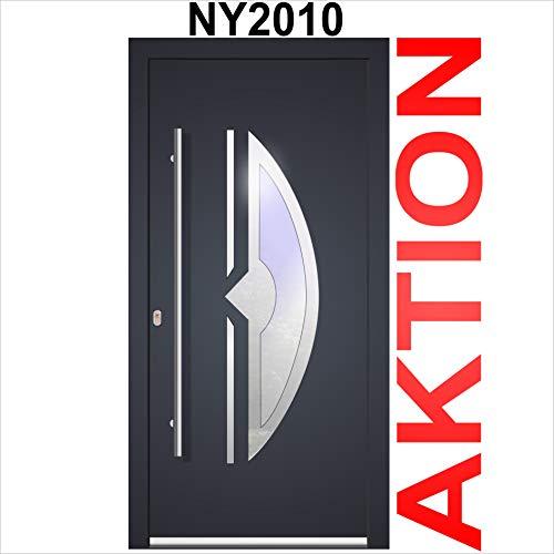 Haustür Welthaus WH75 Standard Aluminium mit Kunststoff NY2010 Amsterdam Tür 1100x2100mm DIN Links Farbe aussen anthrazit Innen weiß außengriff BGR1400 innendrucker M45 Zylinder 5 Schlüßel