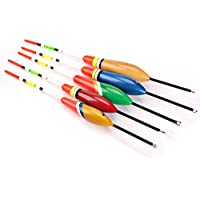 PerGrate perg Transferencia de 5 PCs Multi Size Wooden Fishing Float widening Tail Vivid Color Fishing Float