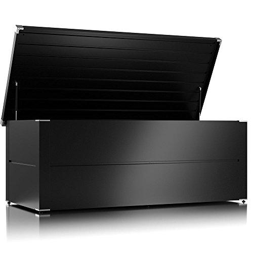 ILESTO Aufbewahrungsbox Benjamin: Kissenbox und Auflagenbox wasserdicht für Ihren Garten, Anthrazit XXL 185x85x69 cm