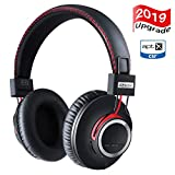 Over Ear Bluetooth Headphones Wireless Lightweight Headset - High End CSR8645 Chip Apt-X Lossless Hi-Fi Stereo, Handmade Style Extra Comfortable and Stylish, Deep Bass Headset with Mic