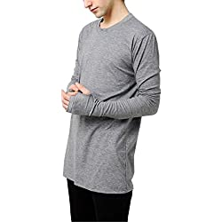 Full Sleeve Black, Lite Grey, Dark Grey & White Color Unisex - (Men & Women) Thumb Hole Slim Fit T-Shirt - STAND OUT (Small, Lite Grey)