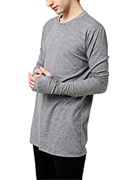 Thumb Hole | Full Sleeve | Round Neck | Slim Fit T-Shirt - Black, Lite Grey, Dark Grey & White Color Unisex -...