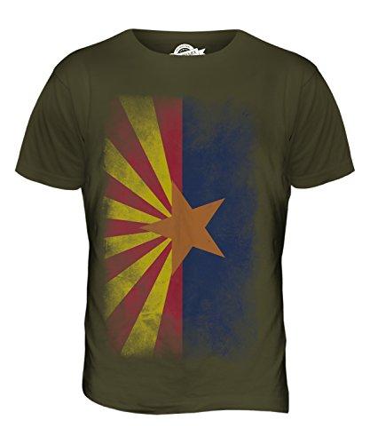 CandyMix Bundesstaat Arizona Verblichen Flagge Herren T Shirt Khaki Grün